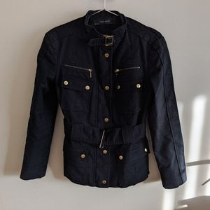 Black and Gold Military / Cargo Jacket